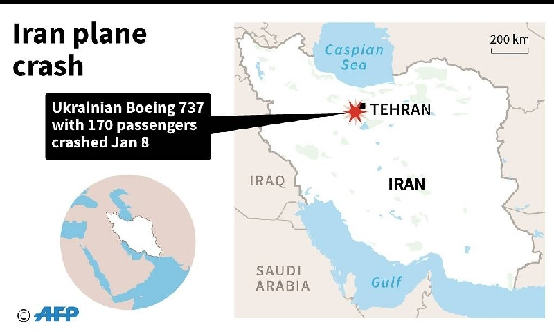 ukrainian boeing 737 plane crashes in iran killing all 176 aboard