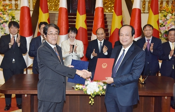 vietnamese japanese governments sign exchange of note