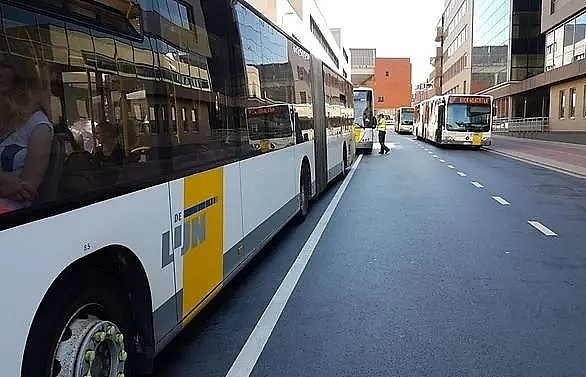 belgian bus driver stabbed 10 times continues route