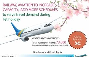 railway aviation to increase capacity to serve tet infographics