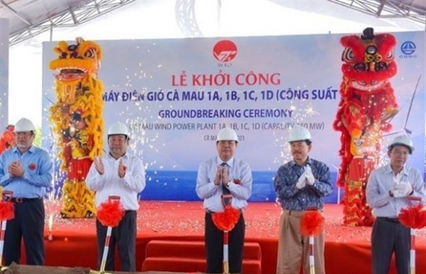 construction on wind power project begins in ca mau