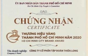 thien long group wins ho chi minh city brand award 2020