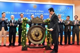 pm beats gong to open new year bourse trading