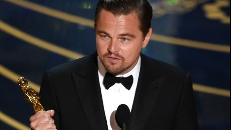 Leonardo DiCaprio, Brie Larson win top acting Oscars
