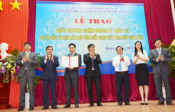 hoa phat receives investment certificate for 265 billion steel project