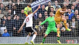Kane's hat-trick hands Spurs Cup cheer