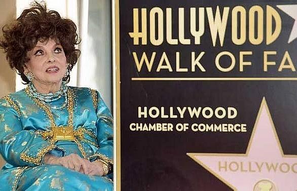 hollywood honours italian star gina lollobrigida