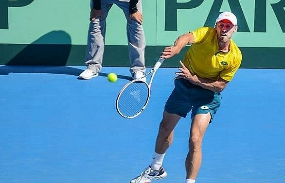 germany australia serbia russia close in on davis cup finals