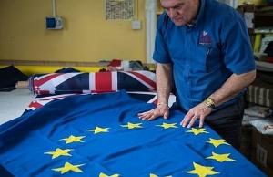 eu flags come down in brexit britain