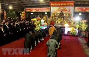 tran temple festival opens in thai binh