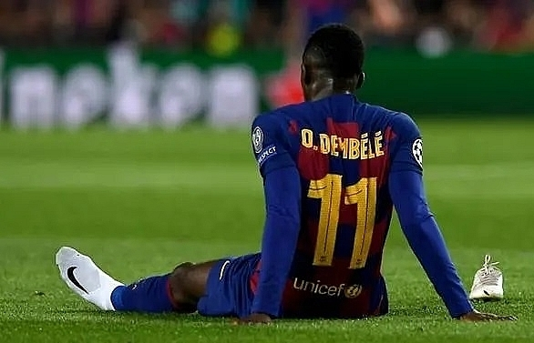 dembele pulls out of barca training