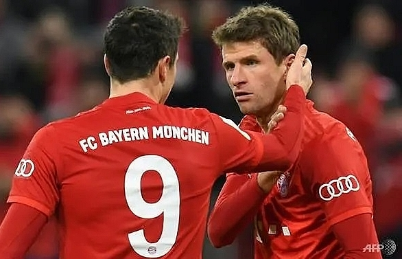mueller shines as bayern squeeze into german cup quarter finals
