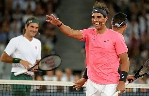 superstars federer nadal play to huge crowd in cape town
