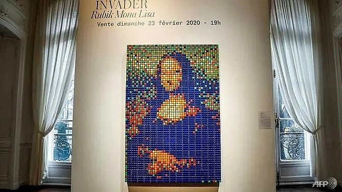 rubiks cube mona lisa fetches us 521000 at paris auction