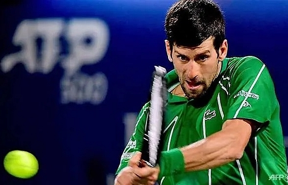djokovic reaches dubai championships semi finals