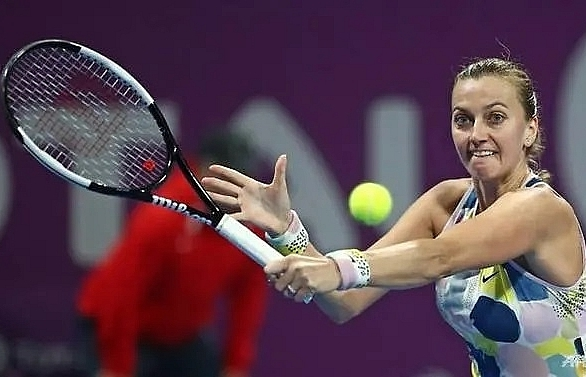 kvitova beats barty to set up doha final with sabalenka