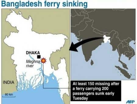 150 missing after ferry sinks in bangladesh