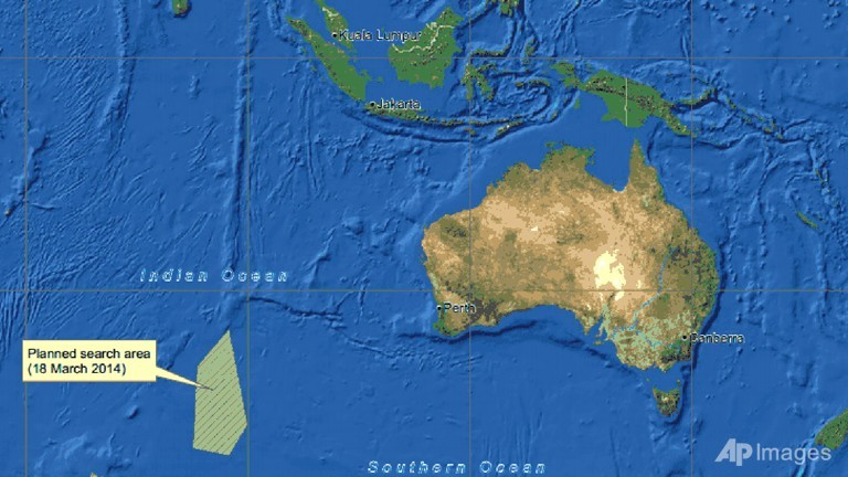 Australia says definite findings on mh370 debris in 2 3 days this graphic shows an area left bottom in the southern indian ocean that the australian maritime safety authority amsa is concentrating its search on gumiabroncs Gallery