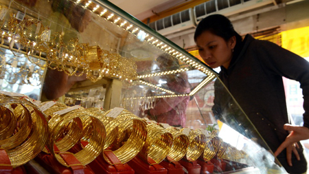 Local gold price matches global market price