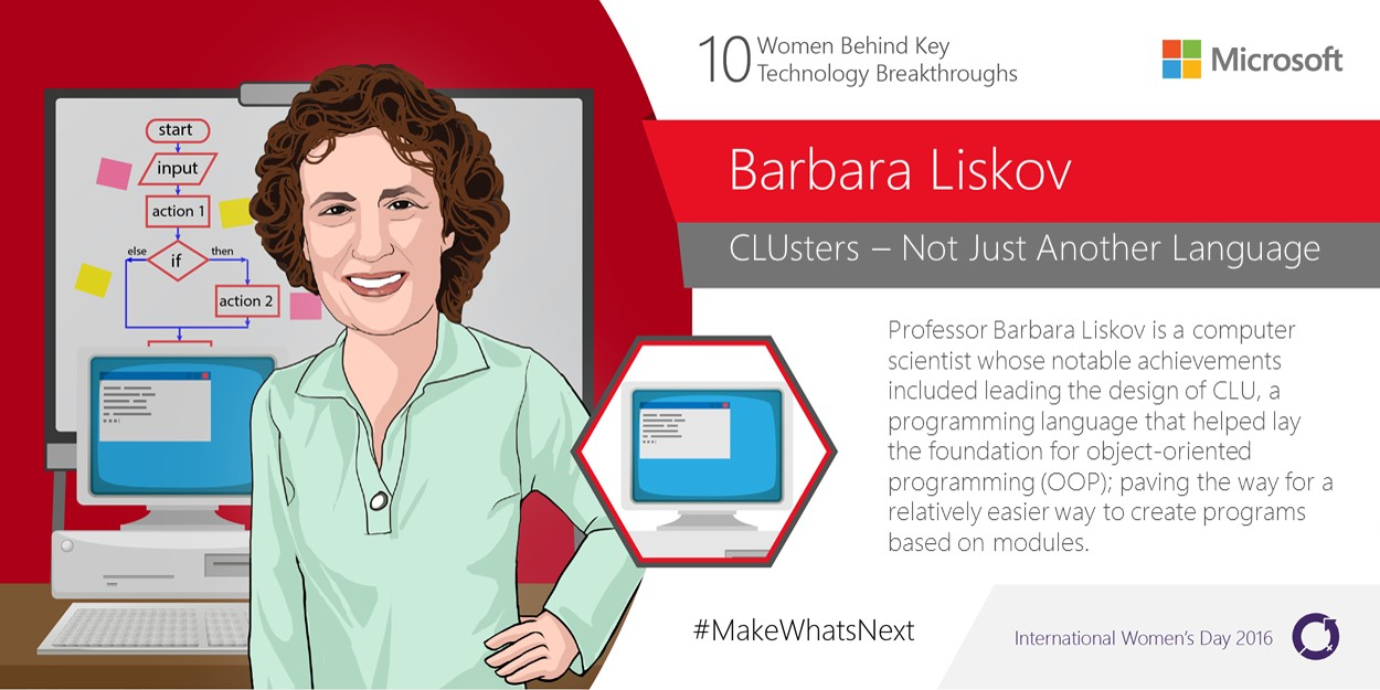barbara liskov View barbara jane liskov's profile on linkedin, the world's largest professional community barbara has 1 job listed on their profile see the complete profile on linkedin and discover barbara's connections and jobs at similar companies.