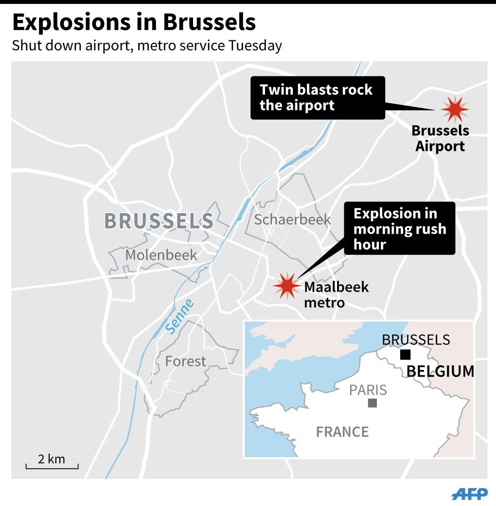blast on brussels metro near eu buildings system ordered closed