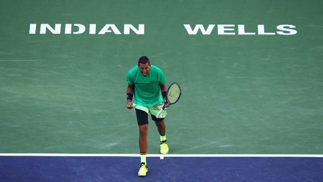 Kyrgios stuns Djokovic again, Federer races past Nadal