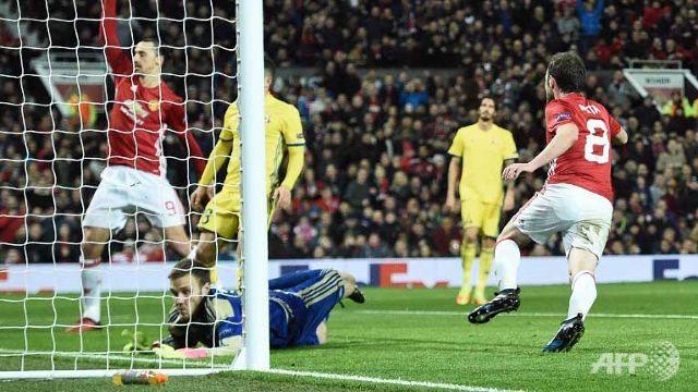 Mata fires Man Utd into Europa League quarter-finals