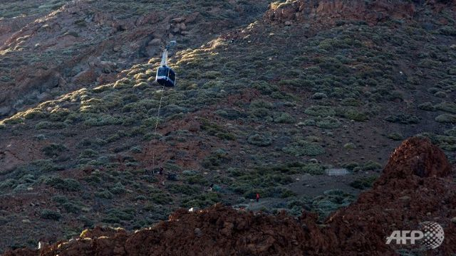 Trapped tourists rescued from cable cars in Tenerife