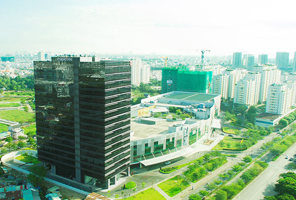 mapletree opens its first grade a office development in vietnam