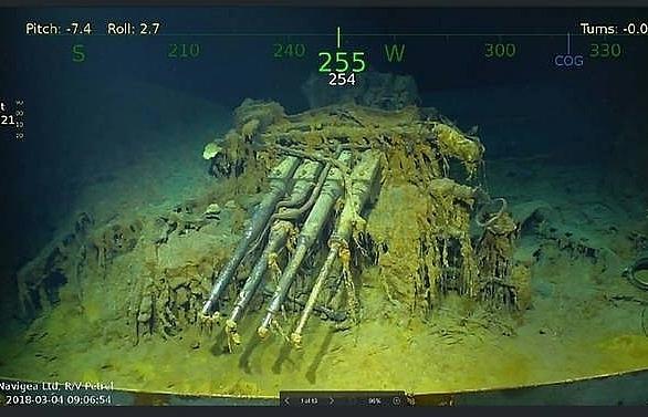 wreckage of wwii aircraft carrier uss lexington found off australia