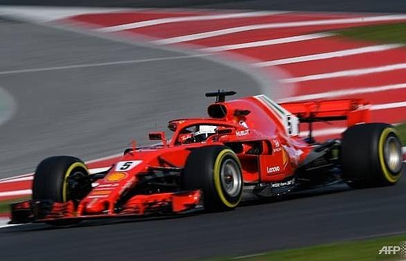 vettel quickest as f1 testing resumes in spain