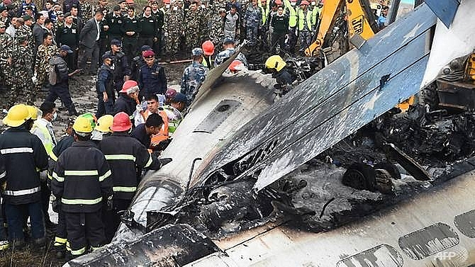 at least 49 dead 23 injured as bangladesh plane crashes in nepal
