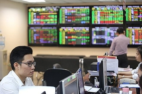 shares up on bank property stocks