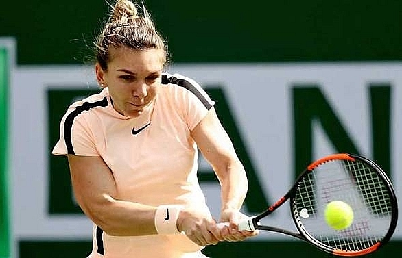 halep osaka reach indian wells semi finals