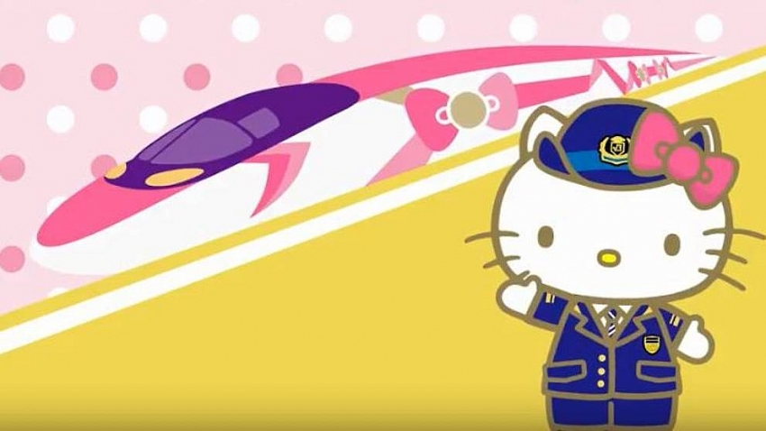 hello kitty to make bullet train debut in japan
