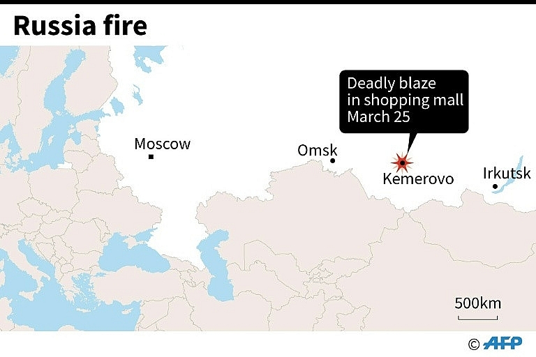 37 dead scores missing in Siberia shopping mall fire