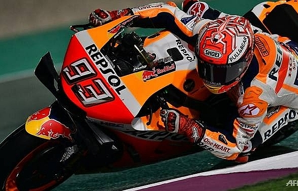 business as usual as marquez sets pace in qatar