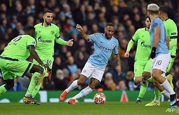 man city crush schalke 7 0 to reach champions league quarter finals
