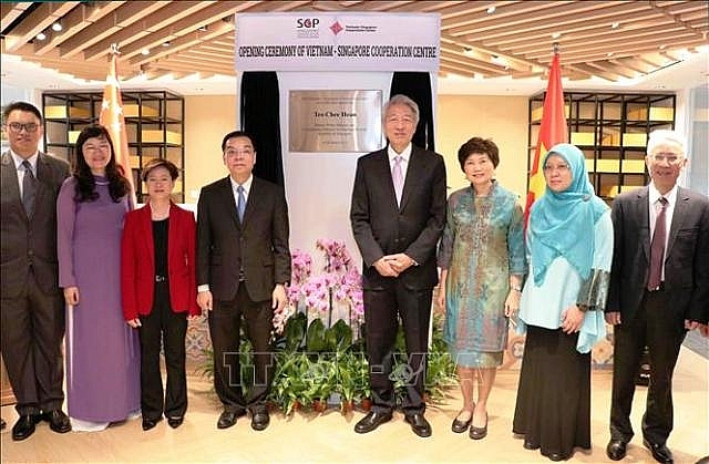 vietnam singapore cooperation centre inaugurated in hanoi
