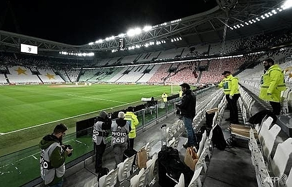 juventus lyon champions league game behind closed doors in turin