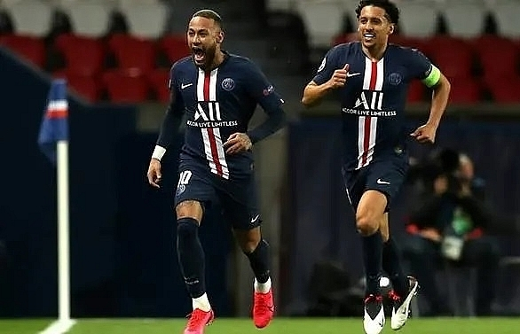 neymar sets psg on way to champions league quarter finals