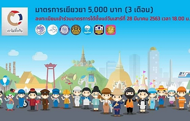 thailand 5000 baht aid applications exceed 13 million
