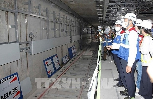 hcm city plans to carry out trial run of elevated section of metro line no1 in late 2021