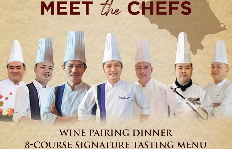 meet the chefs bold asian flavour wine dinner at grand mercure danang