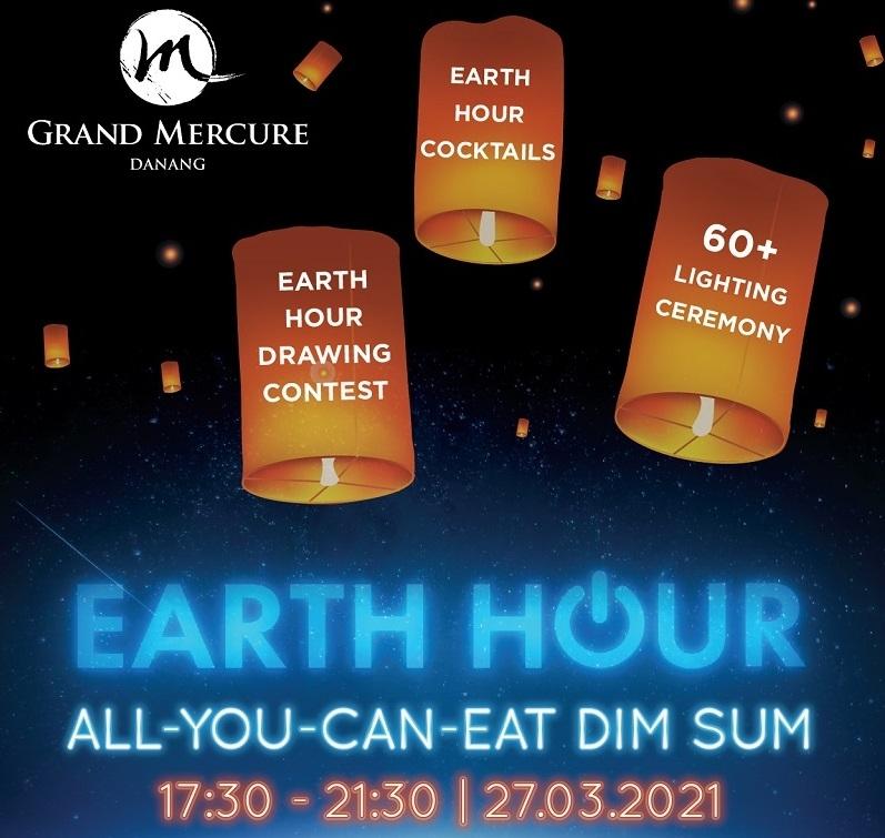 earth hour at grand mercure danang