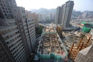 A general view shows a construction site in New Taipei City, Taiwan in 2011. Property sales in Taiwan fell almost 40 percent in the first quarter of 2012 to a ten-year low, mainly due to a new