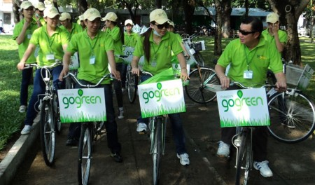 parkson vietnam gets on its bike for the environment