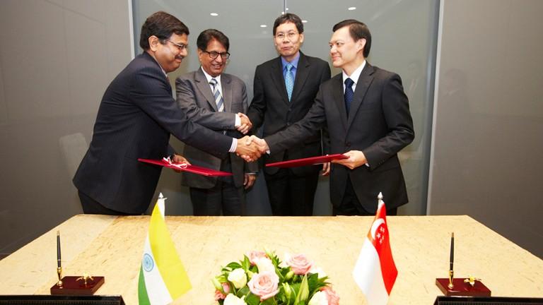singapore india strengthen air links
