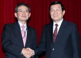 president welcomes japans business leader