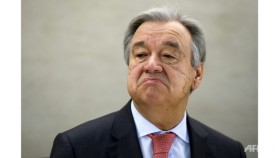 UN chief holds first meeting with Trump